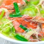 Crab with Misua and Patola Recipe