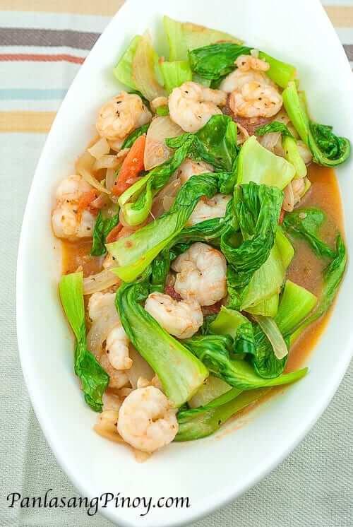 Sauteed Bok Choy with Shrimp