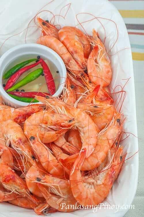 Steamed Shrimp Panlasang Pinoy