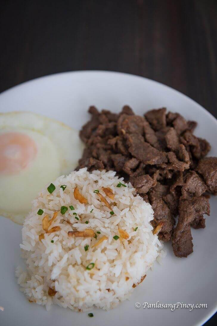 Beef tapa with Rice and Egg