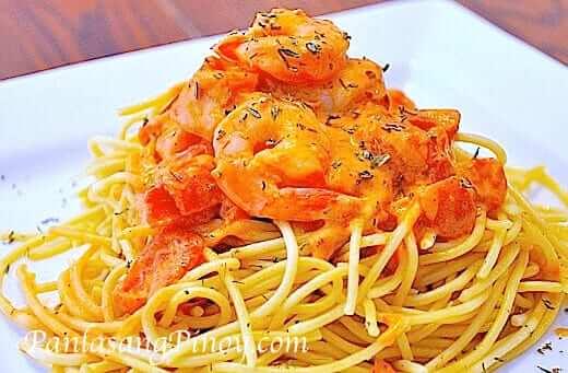 Shrimp-Pasta-in-Tomato-Cream-Cheese