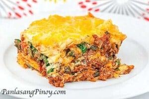 Spinach Lasagne - Panlasang Pinoy