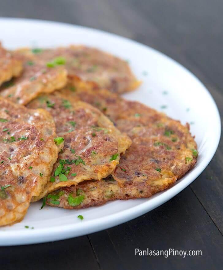 corned beef omelet (tortang corned beef)