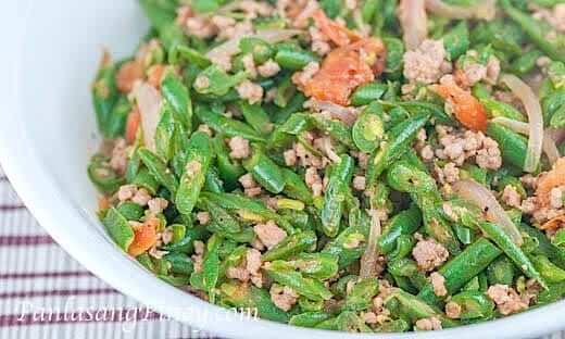 Ginisang Baguio Beans with Pork - Panlasang Pinoy