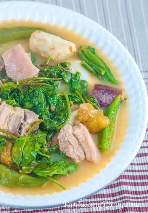 Pork Sinigang sa Kamias with Gabi