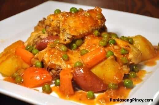 Pinoy Chicken Afritada