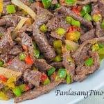 beefpepper steak stir fry recipe