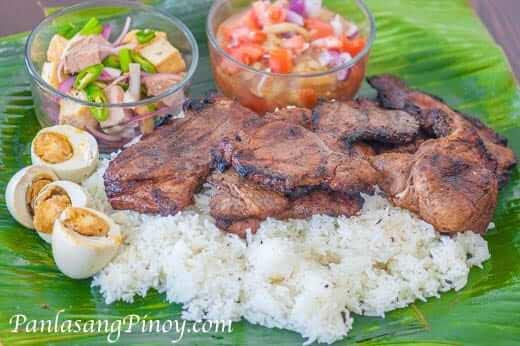 Pinoy Pork Chop Binalot