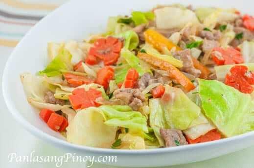 Pork Chop Suey Recip