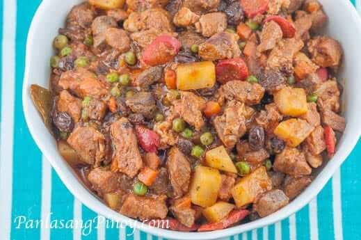 pork menudo raisins recipe