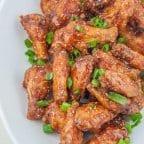 Sticky Asian Fried Chicken Wings