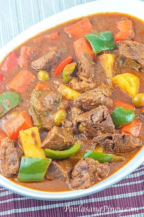how to cook chicken afritada panlasang pinoy