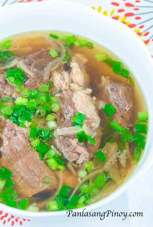 Beef Lauya Soup