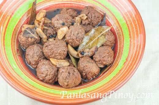 Meatball Adobo bowl