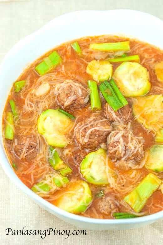 Misua Soup with Meatballs