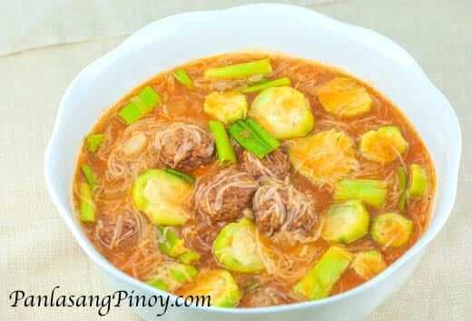 Misua Soup with meatballs Recipe