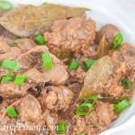 Chicken Liver and Gizzard Adobo Recipe
