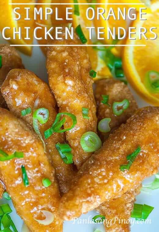 Simple Orange Chicken Tenders Recipe