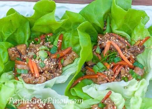Teriyaki Chicken Lettuce Wrap Recipe