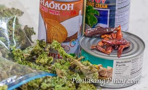 Kale Laing Ingredients