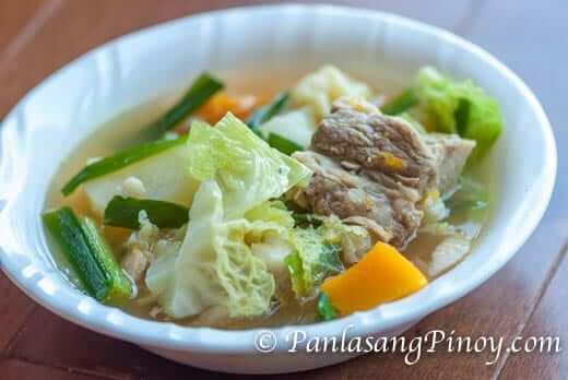 Pork Nilaga with Kalabasa