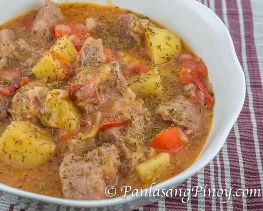 Pork and potato stew recipe panlasang pinoy pork and potato stew recipe forumfinder Image collections