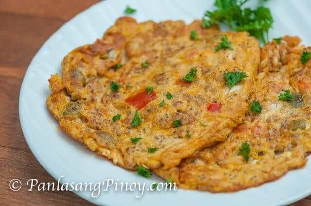 Ground Pork Kaldereta Omelet Recipe