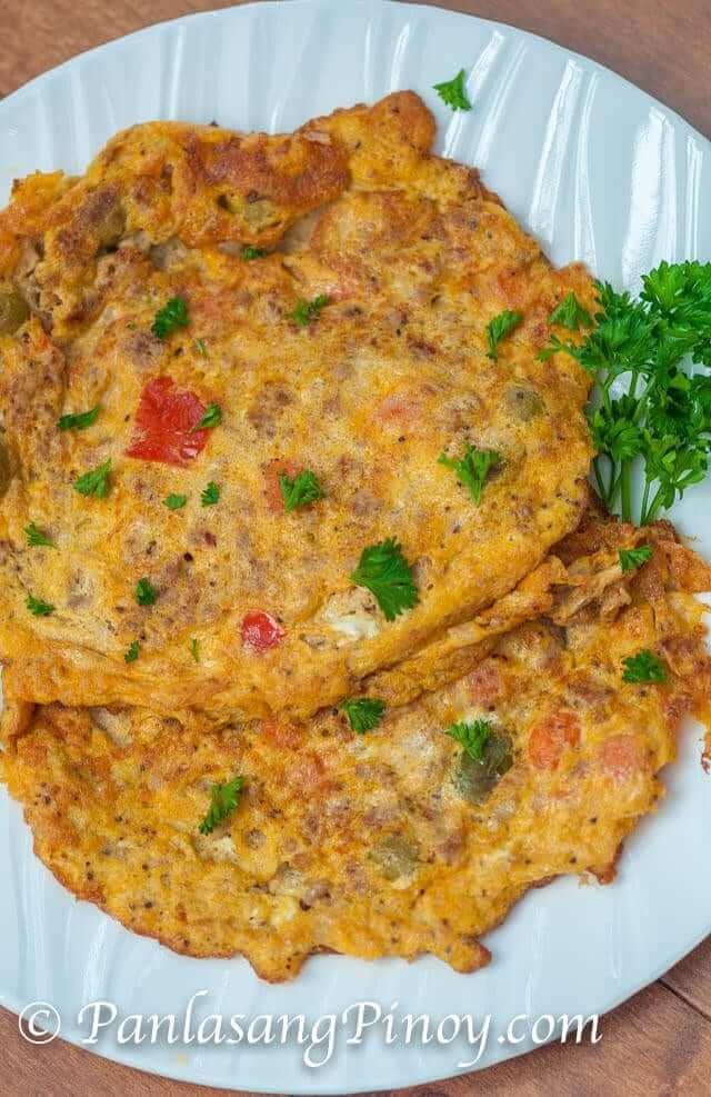 Ground Pork Kaldereta Omelet