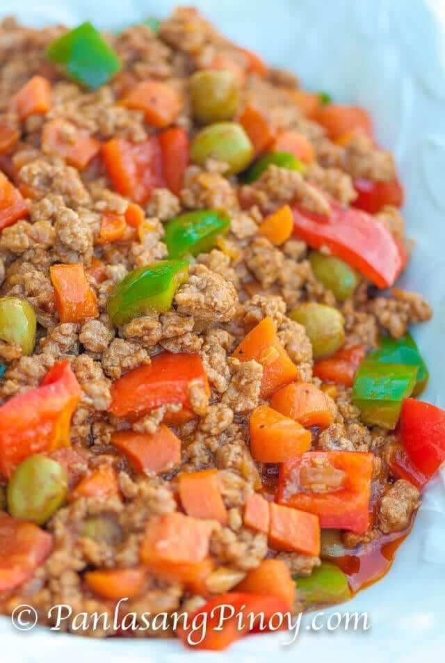 Pork Giniling Kaldereta Recipe Panlasang Pinoy