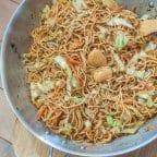 Squid Ball Pancit Canton Recipe (Chow Mein)