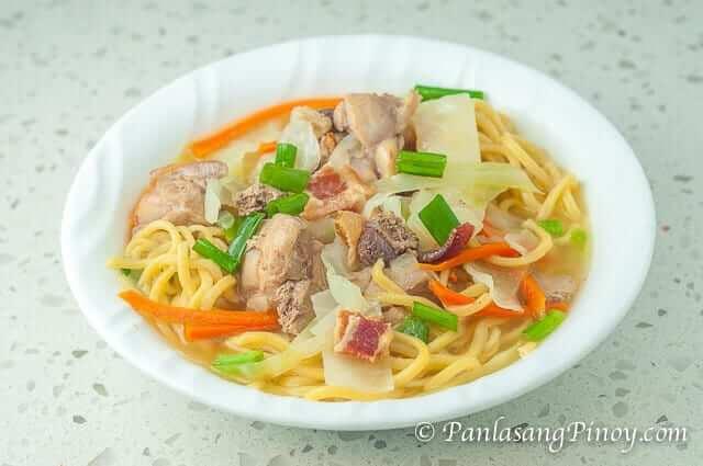 Filipino Chicken Noodle Soup Recipe_
