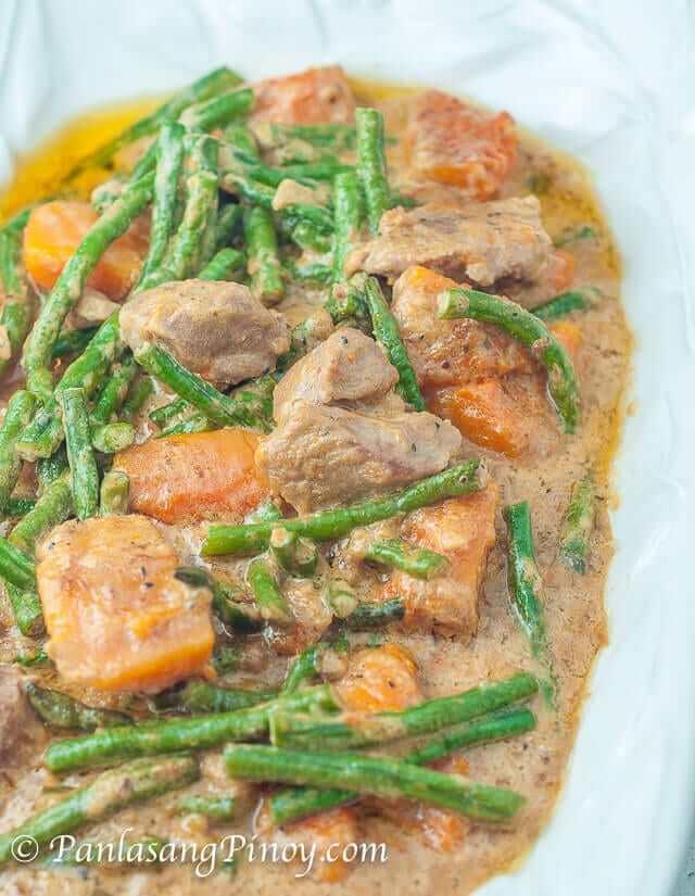 Pork Ginataan with Sitaw and Kalabasa