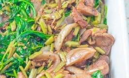Pork and Kangkong Guisado