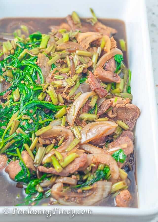 Pork And Kangkong Guisado Panlasang Pinoy
