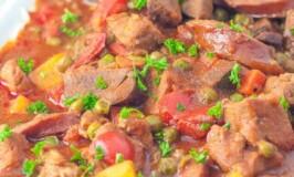 Sausage, Liver, and Pork Stew