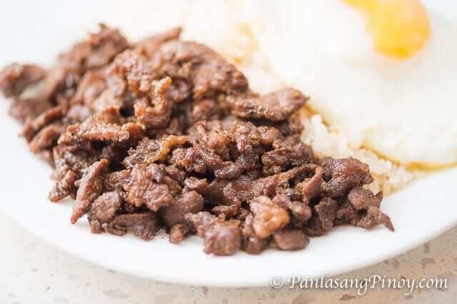 beef teriyaki tapa with fried rice and egg recipe