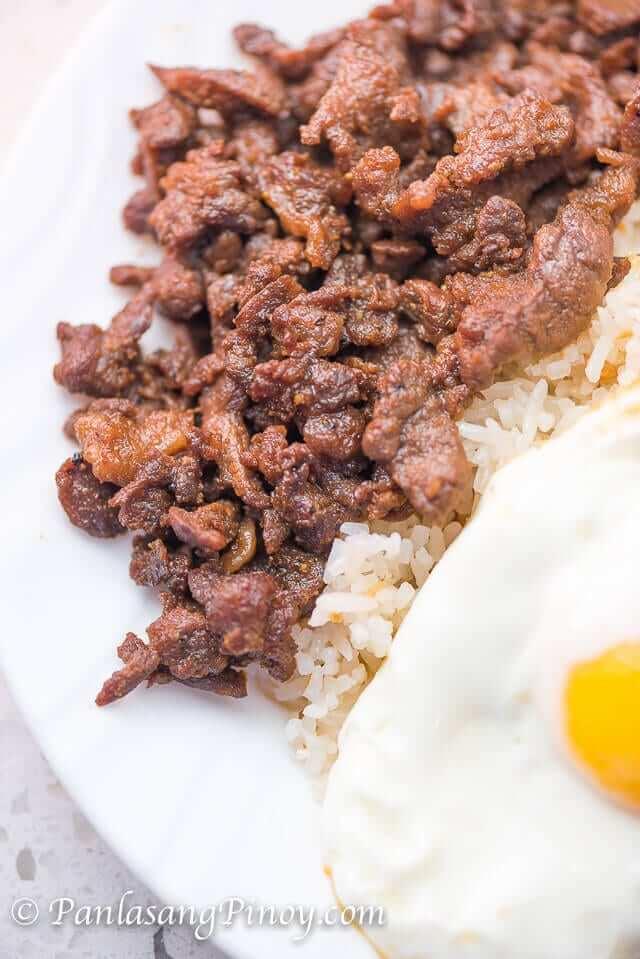 beef teriyaki tapa with fried rice and egg
