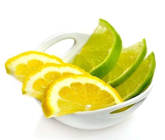 lemon and lime slices - uric acid foods