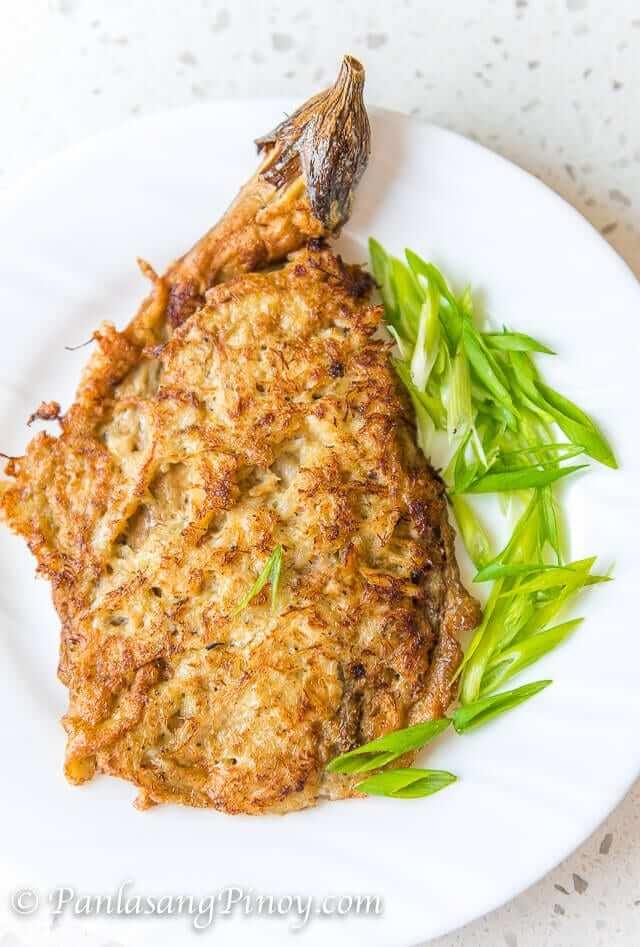 tortang talong with crab