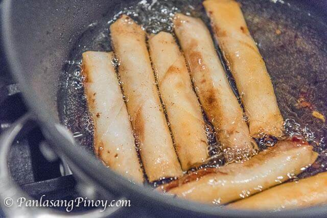 How to Fry Lumpia