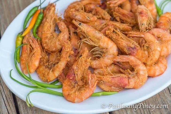 Fried Shrimp with Wine Nilasing na Hipon Recipe