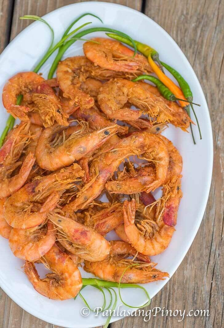 Shrimp with Wine Nilasing na Hipon