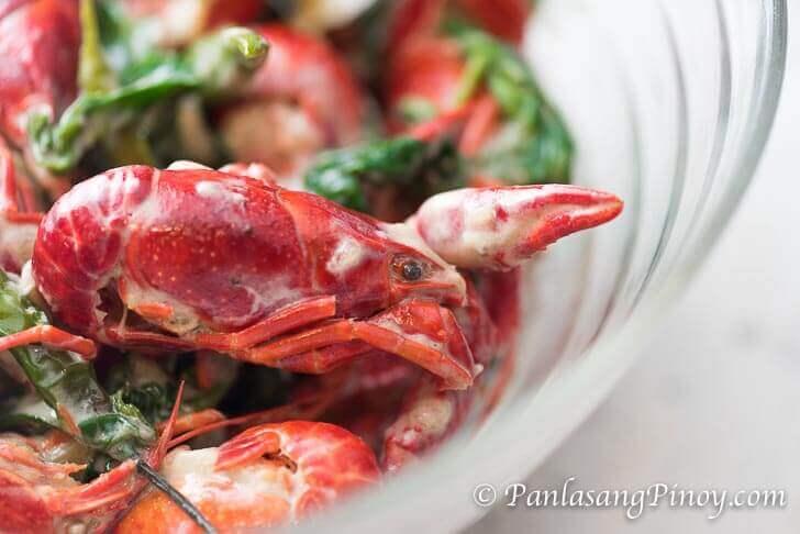 Crawfish in Coconut Milk with Spinach Recipe