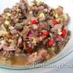 Kilawing Kambing Recipe (Chopped Goatskin Kilawin)