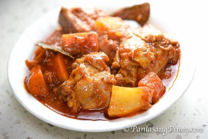 Basic Chicken Afritada Recipe