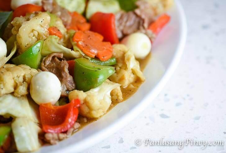 Chopsuey with Quail Eggs Recipe