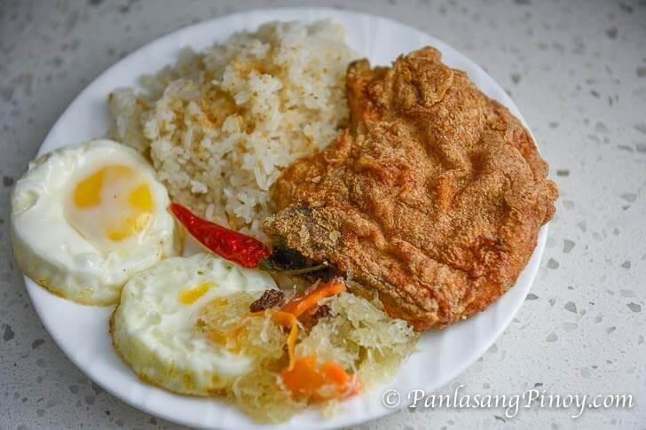 Fried Pork Chop Sinangag at Itlog Breakfast