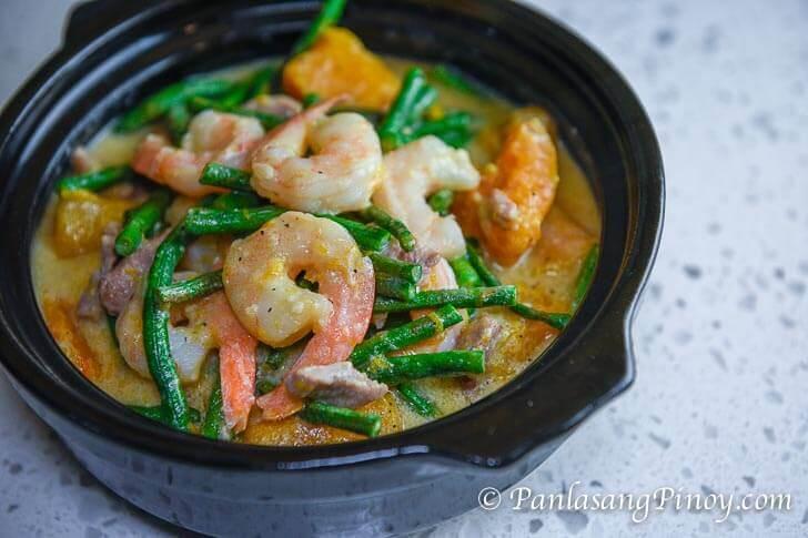 Ginataang Gulay with Shrimp and Pork Recipe