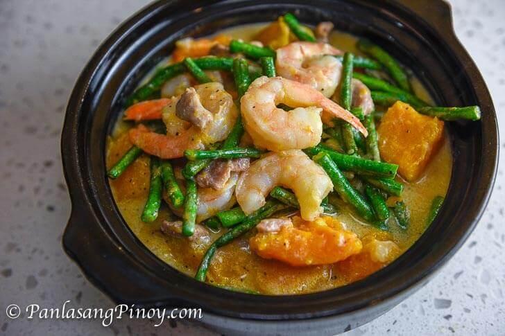 Ginataang Gulay with Shrimp and Pork