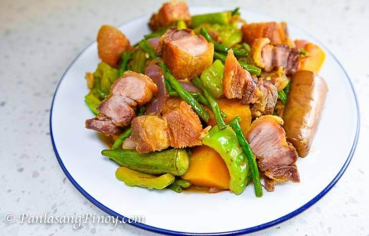 Pinakbet with Lechon Kawali Recipe